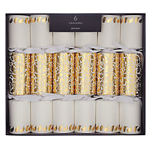 Buy John Lewis Ruskin House Mini Damask Gold Crackers, Box of 6 Online at johnlewis.com