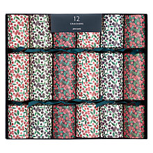 Buy John Lewis Ruskin House Ditsy Berry Crackers, Box of 12 Online at johnlewis.com