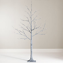 Buy John Lewis 4ft Pre-Lit Grey Twig Christmas Tree Online at johnlewis.com