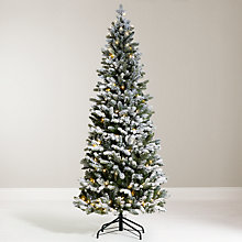 Buy John Lewis 6ft Pre-Lit Pop-Up Space-Saver Snowy Christmas Tree Online at johnlewis.com