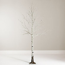 Buy John Lewis 7.5ft Pre-Lit Mossy Birch Christmas Tree, White Online at johnlewis.com