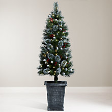 Buy John Lewis Chamonix 4.5ft Pre-Lit Potted Christmas Tree Online at johnlewis.com