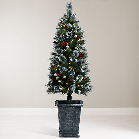Buy John Lewis Pre-Lit Potted Christmas Tree, 4.5ft | John ...