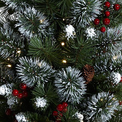 Buy John Lewis Pre-Lit Potted Christmas Tree, 4.5ft   John Lewis