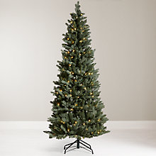 Buy John Lewis 6ft Pre-Lit Pop-Up Space-Saver Christmas Tree, Blue / Green Online at johnlewis.com