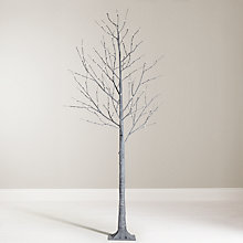 Buy John Lewis 6ft Pre-Lit Grey Twig Christmas Tree Online at johnlewis.com