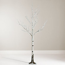 Buy John Lewis 6ft Pre-Lit Mossy Birch Christmas Tree, White Online at johnlewis.com