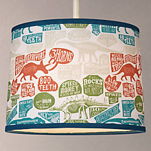 Buy little home at John Lewis Prehistoric Explorer Lampshade Online at johnlewis.com