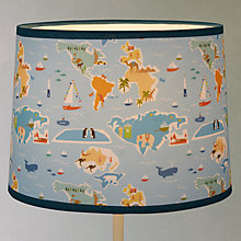 Buy ittle home at John Lewis Globe Trotter Lampshade Online at johnlewis.com