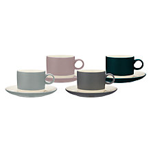 Buy John Lewis Croft Collection Teacup & Saucer, Set of 4 Online at johnlewis.com