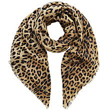 Buy Mulberry Leopard Print Wool Scarf, Natural Online at johnlewis.com