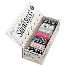Buy Seasalt Sailor Ankle Socks, Pack of 7, Multi Online at johnlewis.com