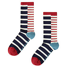 Buy Seasalt Sailor Stripe Breton Ankle Socks, Marine/Ecru Online at johnlewis.com