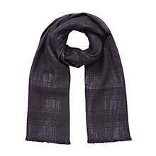 Buy Mulberry Shimmer Wool Mix Scarf, Black Online at johnlewis.com