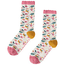Buy Seasalt Floral Feet Garden Ankle Socks, Pink/Multi Online at johnlewis.com