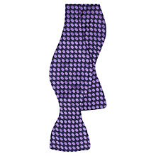 Buy Duchamp Elypse Dot Print Self Tie Silk Bow Tie, Purple Online at johnlewis.com