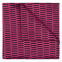 Buy Duchamp Vital Geo Silk Pocket Square, Pink Online at johnlewis.com