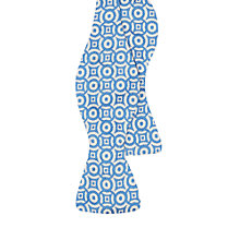 Buy Duchamp Circ Geometric Self Tie Silk Bow Tie, Light Blue Online at johnlewis.com