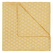 Buy Duchamp Chainlink Plain Silk Pocket Square Online at johnlewis.com