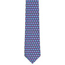 Buy Duchamp Box Geo Print Silk Tie Online at johnlewis.com