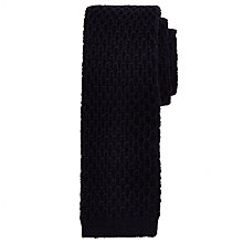 Buy JOHN LEWIS & Co. Lebon Loop Knit Wool Tie, Navy Online at johnlewis.com