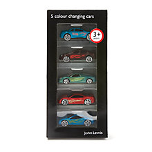 Buy John Lewis Colour Change Cars, Pack of 5 Online at johnlewis.com