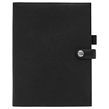 Buy Reiss Nelson Leather Notepad Cover, Black Online at johnlewis.com