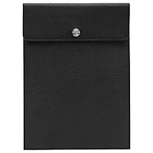 Buy Reiss Itten Leather iPad Sleeve, Black Online at johnlewis.com