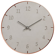 Buy Umbra Piatto Conrete Wall Clock Online at johnlewis.com