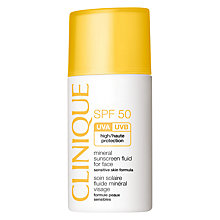 Buy Clinique Mineral Sunscreen Fluid For Face SPF50, 30ml Online at johnlewis.com