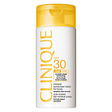 Buy Clinique Mineral Suncreen Lotion For Body SPF30, 125ml Online at johnlewis.com
