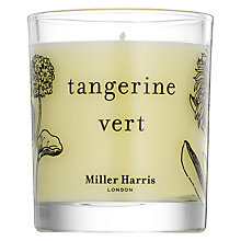 Buy Miller Harris Tangerine Vert Candle, 185g Online at johnlewis.com