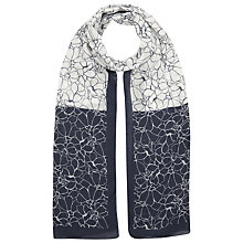 Buy Precis Petite Contrast Flower Print Scarf, Multi Navy Online at johnlewis.com