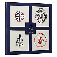 Buy John Lewis Chamonix Die Cut Charity Christmas Cards, Pack of 30 Online at johnlewis.com