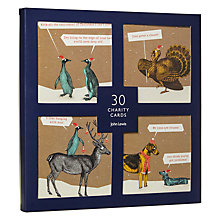 Buy John Lewis Kraft Humour Charity Christmas Cards, Pack of 30 Online at johnlewis.com