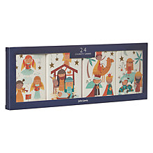 Buy John Lewis Mini Nativity Charity Christmas Cards, Pack of 24 Online at johnlewis.com