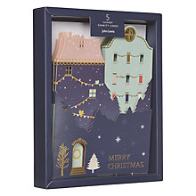 Buy John Lewis Ostravia Houses Charity Christmas Cards, Pack of 5 Online at johnlewis.com