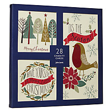 Buy John Lewis Letterpress Robin Charity Christmas Cards, Pack of 28 Online at johnlewis.com