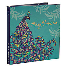 Buy John Lewis Peacock & Garlands Charity Christmas Cards, Pack of 10 Online at johnlewis.com