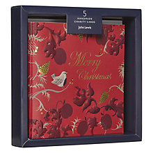 Buy John Lewis Ruskin House Handmade Charity Christmas Cards, Pack of 5 Online at johnlewis.com