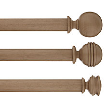 Buy John Lewis Croft Collection Ambleside Aged Wood Effect Curtain Pole Range, Dia.35mm Online at johnlewis.com