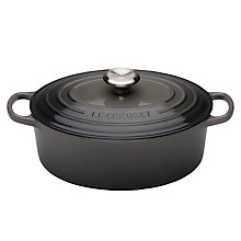 Buy NEW Le Creuset Signature Cast Iron Oval Casserole Online at johnlewis.com