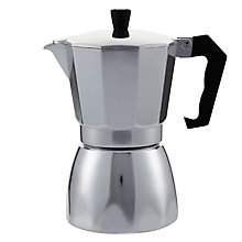 Buy John Lewis Espresso Silver Cafetiere, 6 Cup Online at johnlewis.com