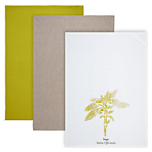 Buy John Lewis Croft Collection Tea Towel, Set of 3, Sage Online at johnlewis.com