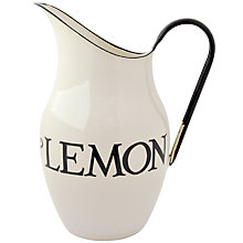 Buy Emma Bridgewater Black Toast Enamel Water Jug, 2.5L Online at johnlewis.com