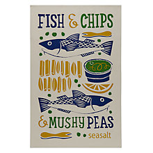 Buy Seasalt Fish and Chips Tea Towel Online at johnlewis.com