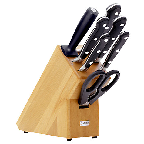 Buy Wusthof Classic Knife Block Set 8 Piece John Lewis