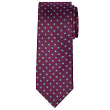 Buy Richard James Mayfair Herringbone Daisy Silk Tie, Burgundy Online at johnlewis.com