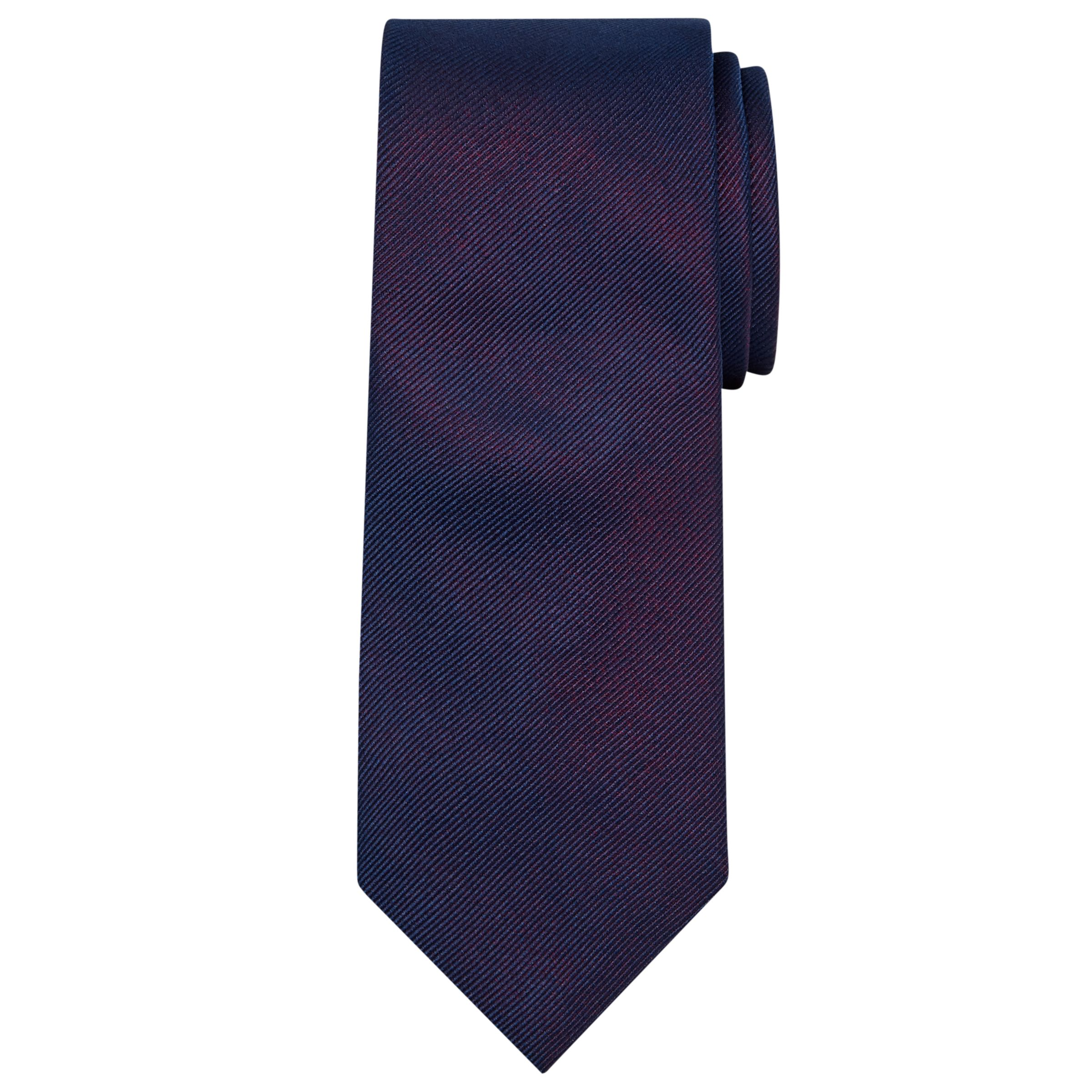 Richard James Mayfair Richard James Mayfair Plain Silk Tie, Purple