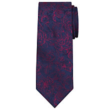 Buy Richard James Mayfair Sketch Roses Silk Tie, Navy/Pink Online at johnlewis.com